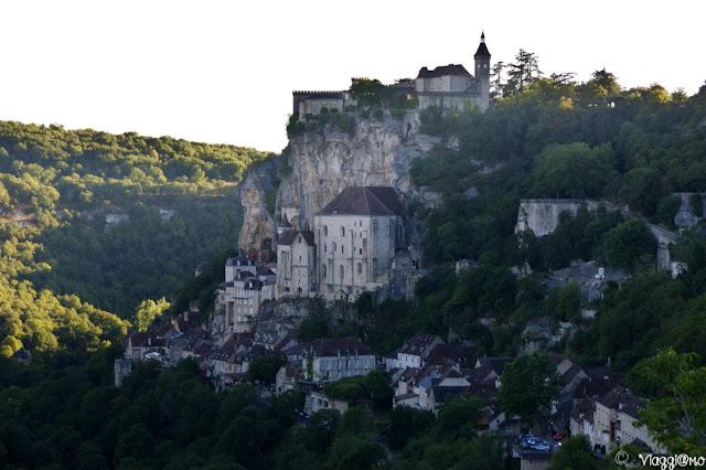 Vista di Rocamadour dall'Hospitalet