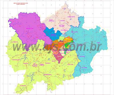 Mapa da Região Metropolitana de Belo Horizonte