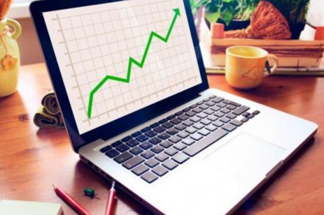 Gráfico de venda virtual