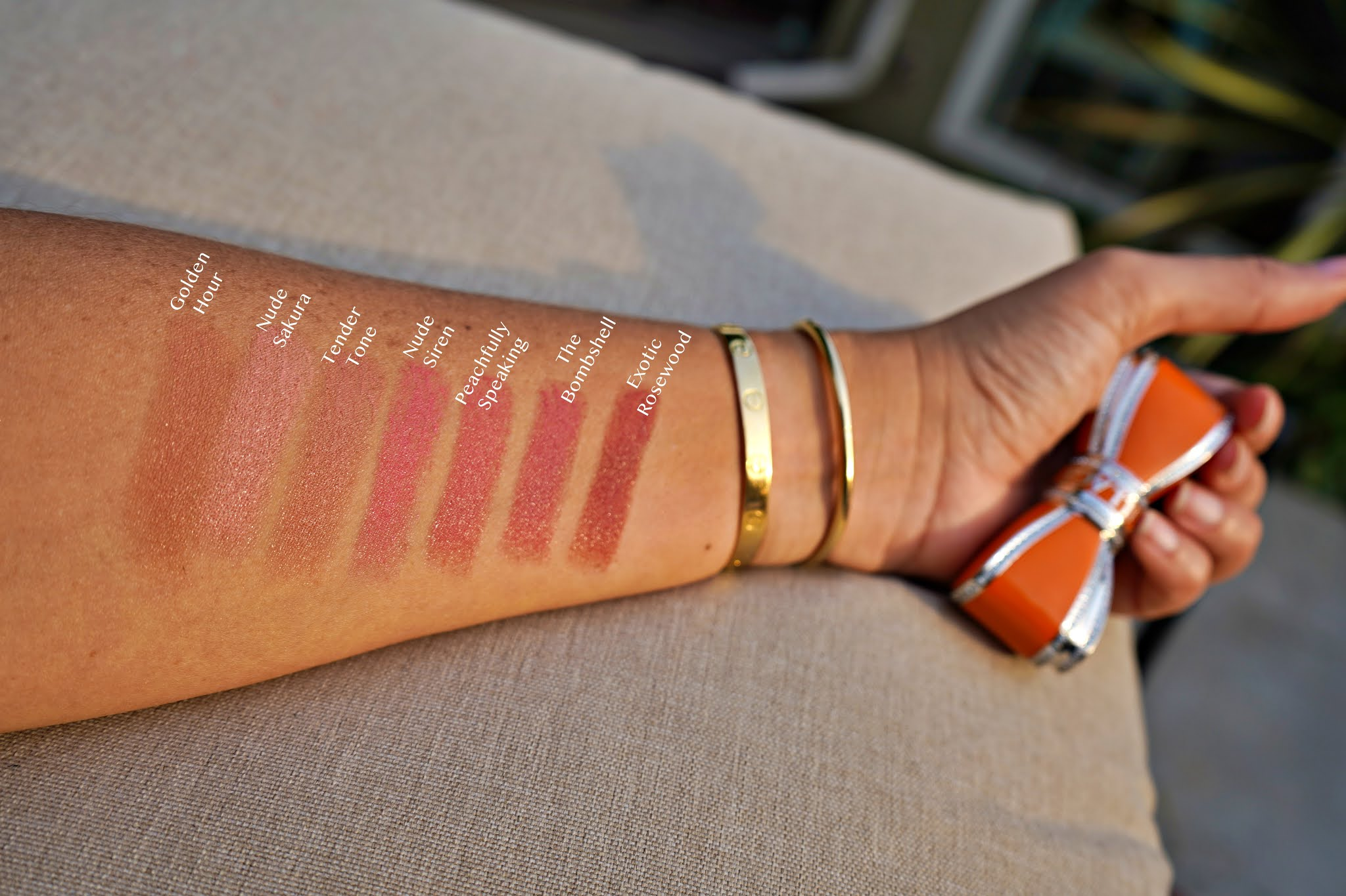 House of Sillage Nudes Collection lipstick swatches