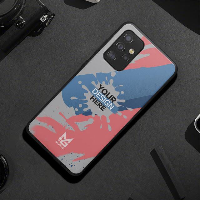 Mockup Blackmatte Case Samsung Galaxy A52