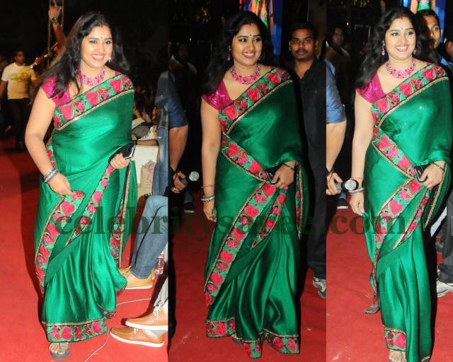 1090c2bd2933e TV Artist Green Raw Silk Saree - Saree Blouse Patterns