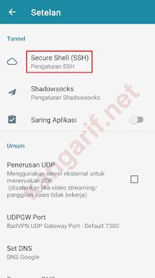 klik secure shell (ssh)