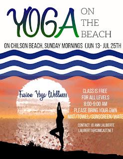 Yoga on the Beach returns Sunday mornings