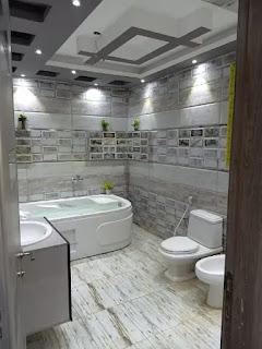 ديكورات حمام مودرن جميل جدا
