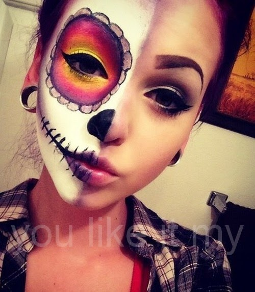 you like it my mexican sugar skull makeup for girls on halloween. Black Bedroom Furniture Sets. Home Design Ideas