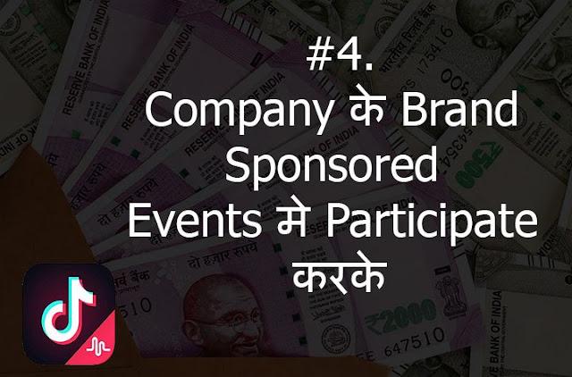 earn money from tiktok from brand sponsored events