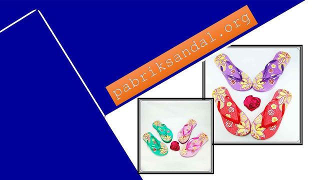 Pabrik Sandal Murah Wanita || Sandal AB Sablon Bunga Wanita