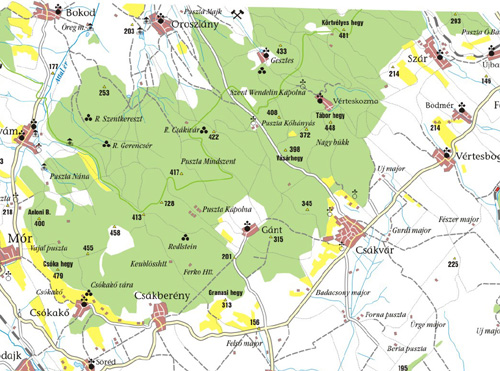 vértes hegység térkép Gesztes.hu: A Vértes hegység 1910 es térképe vértes hegység térkép