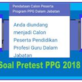 Contoh Soal Pretest PPG 2018 Tahap 2 Semua Jenjang