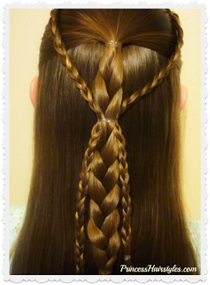 Easy gathered braids half up hairstyle tutorial