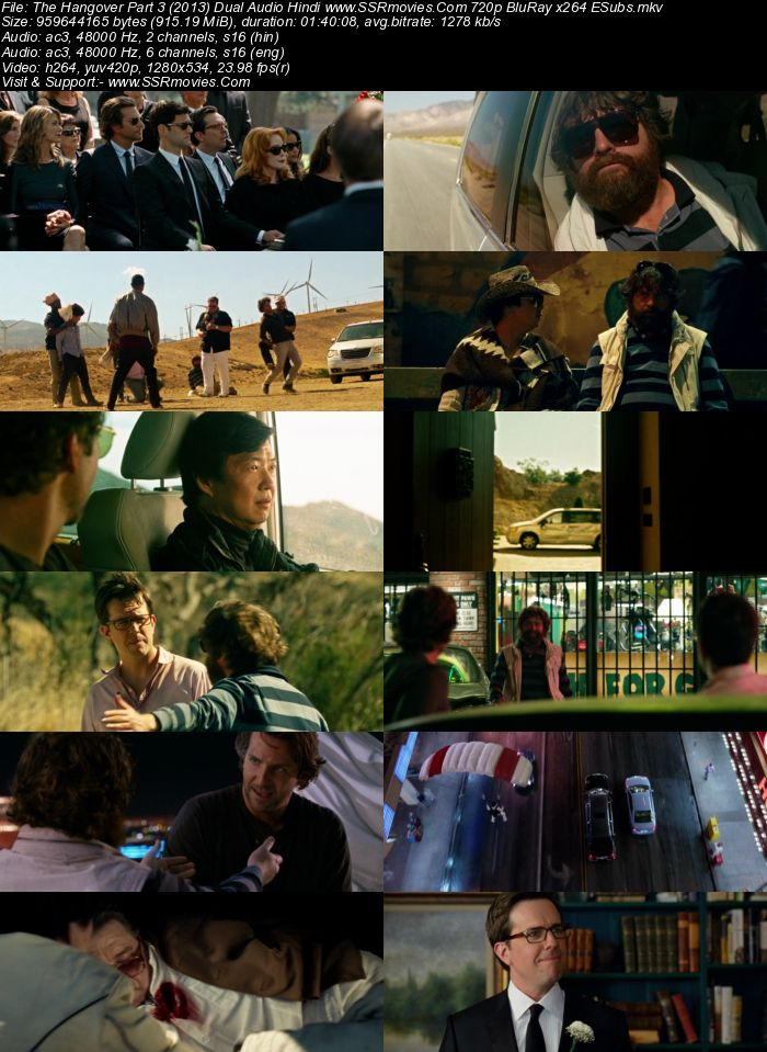 The Hangover Part 3 (2013) Dual Audio Hindi 480p BluRay 300MB ESubs Movie Download