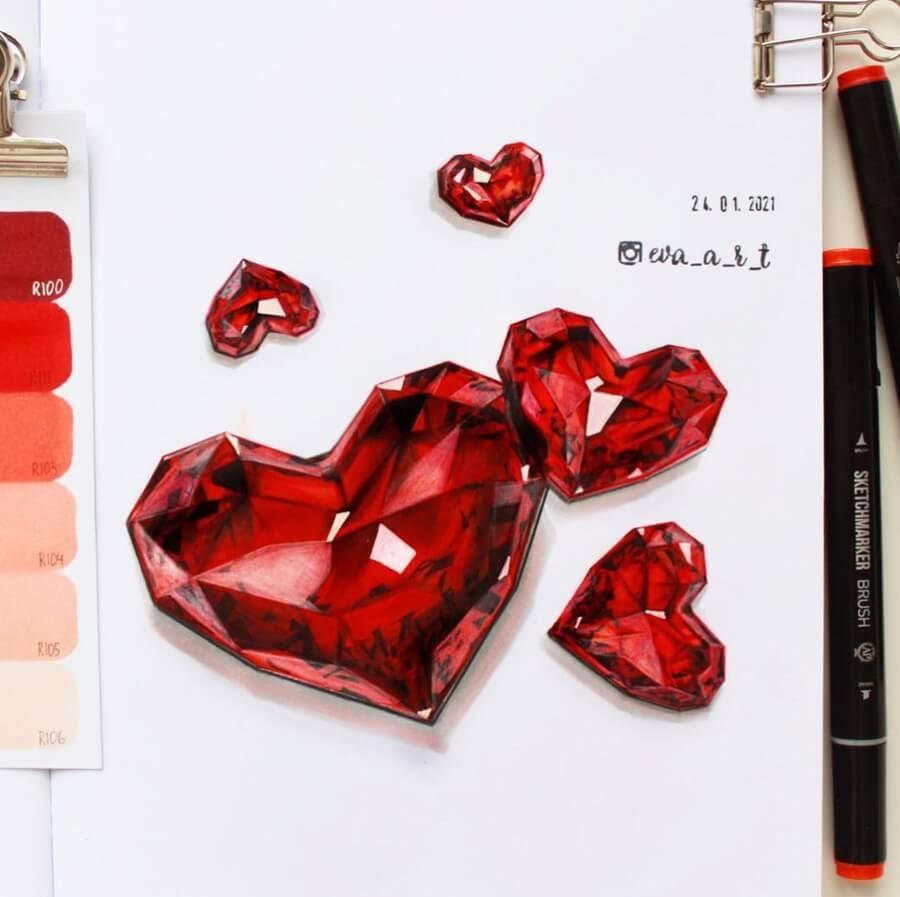 08-Heart-jewel-stones-Eva-Art-www-designstack-co