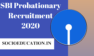 SBI Probationary Officers(PO) Recruitment 2020 @ibpsonline.ibps.in
