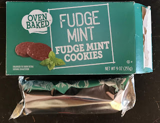 The inner packaging of Oven Baked Fudge Mint Cookies, which consists of two foil wrappers full of cookies