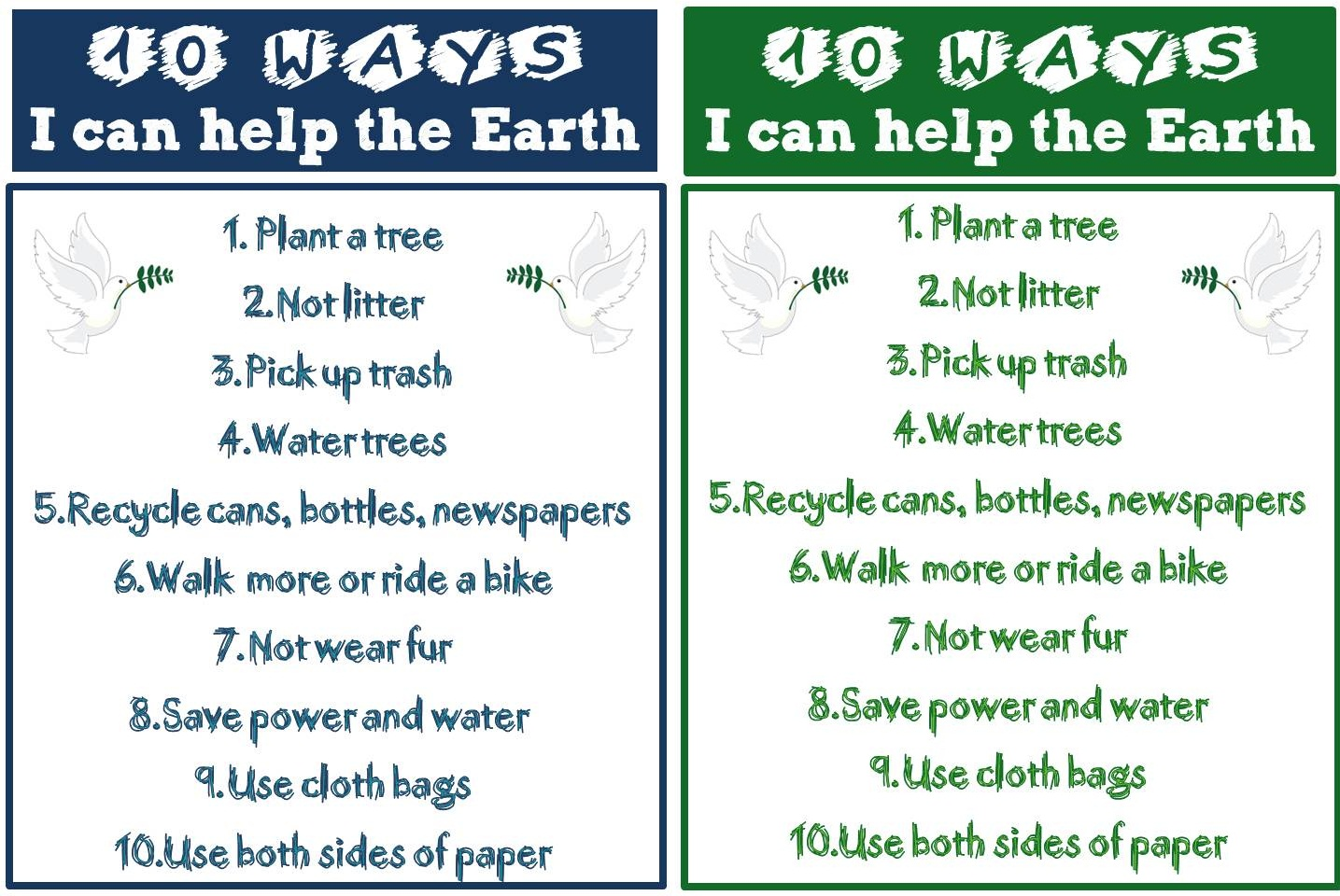 Enjoy Teaching English Earth Day Printable