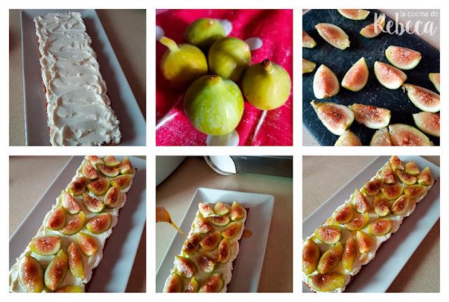 Receta de bizcocho con queso e higos: la decoración
