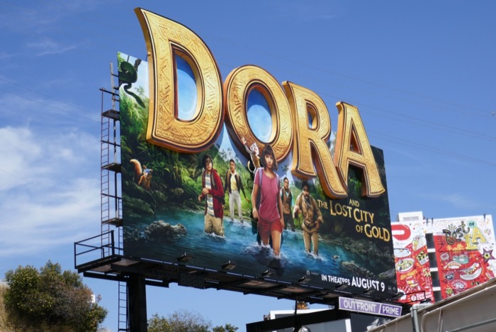 Dora and Lost City of Gold 3D billboard