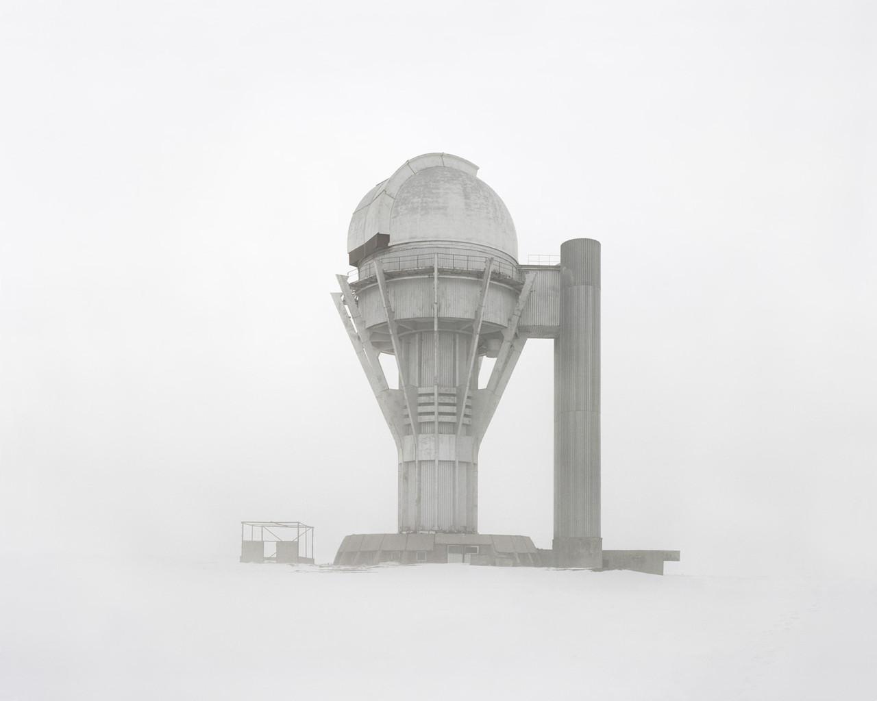 Observatorio en la nieve