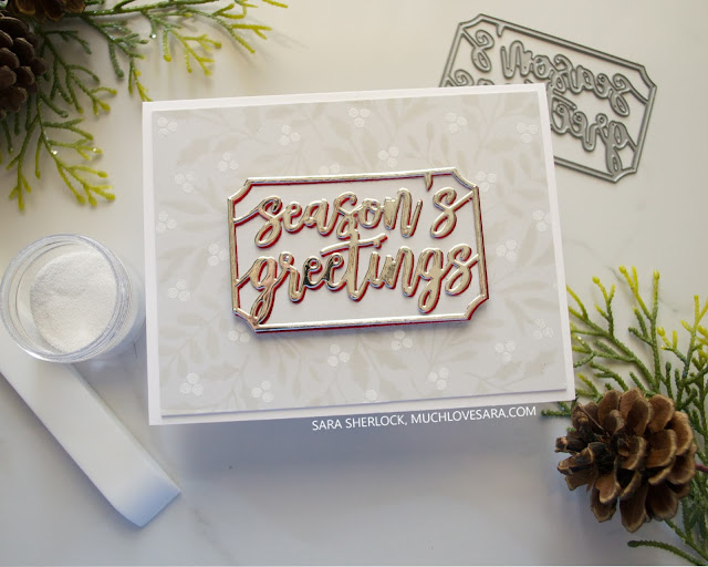 This card was created using stamps and dies from the Concord & 9th Holly Berry bundle.  Find the full details, including supply list, on the blog.
