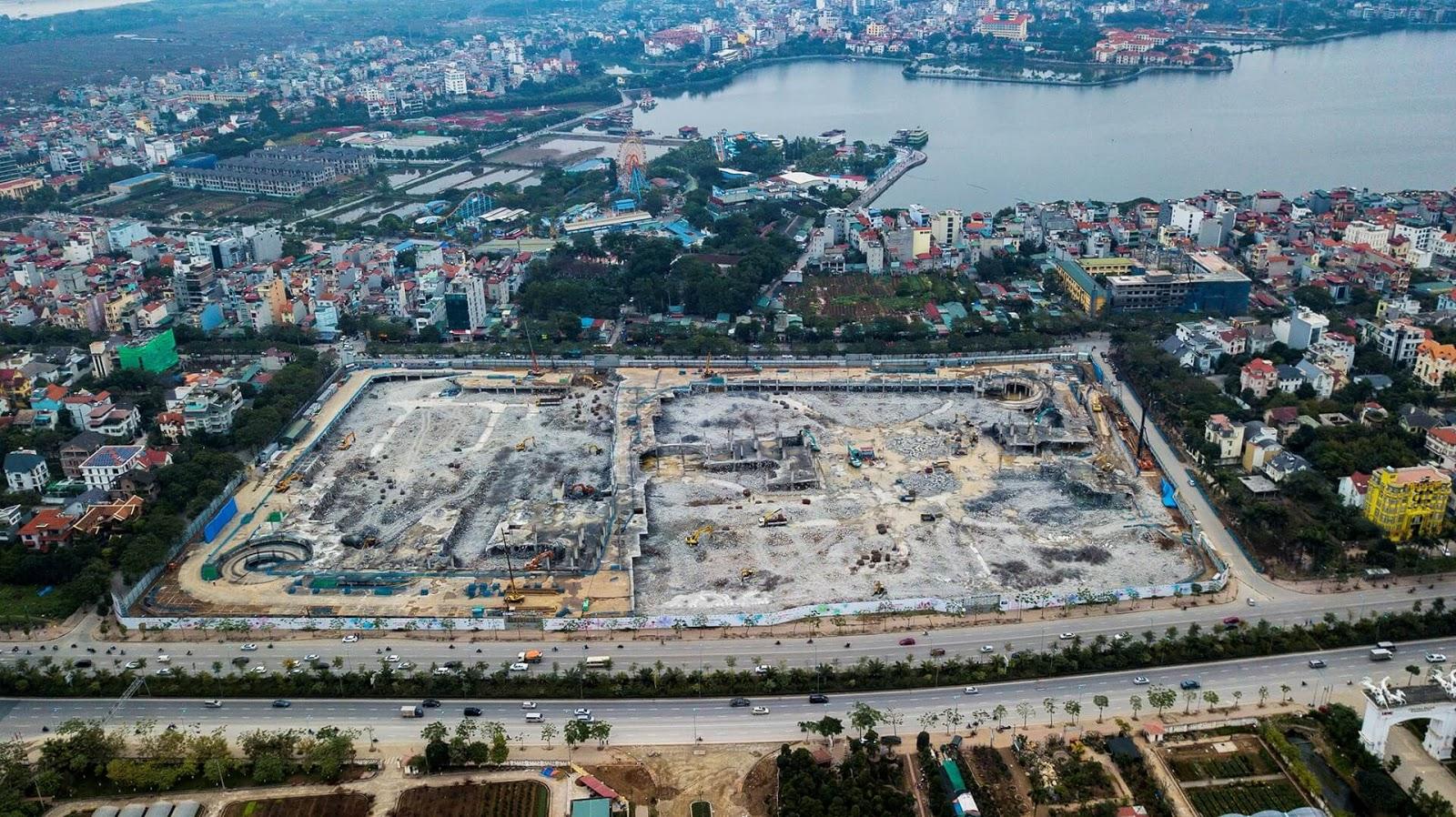 Toàn cảnh công trình xây dựng Lotte Mall.