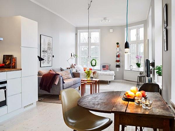 Decoração do apartamento com móveis