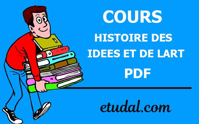 cours histoire des idees et de lart s3 pdf