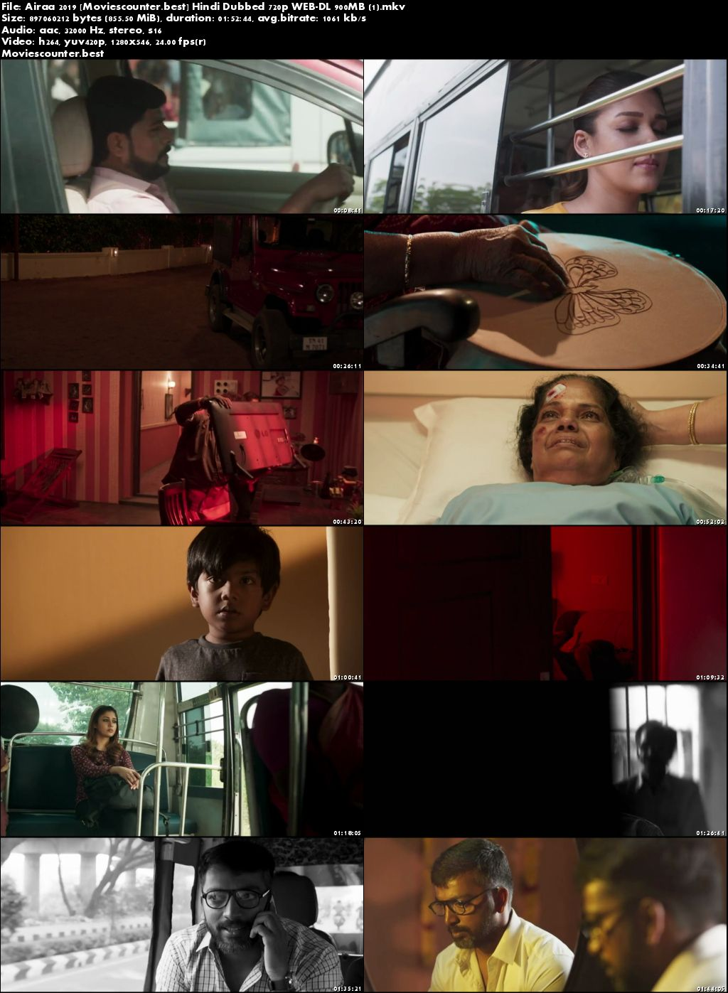 Screen Shots Airaa 2019 Hindi Dubbed HD 720p