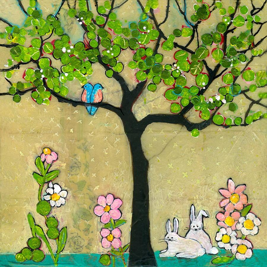 Cuadros modernos pinturas y dibujos pintar arboles en for Imagenes de cuadros abstractos rusticos