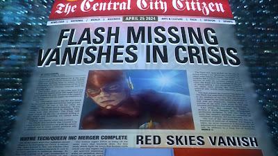 The Flash(2014), portada del diario The Central City Citizen de Abril 25 del 2024