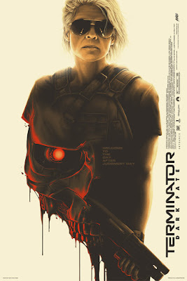 Terminator: Dark Fate Movie Poster Screen Print by Matt Ryan Tobin x Mondo