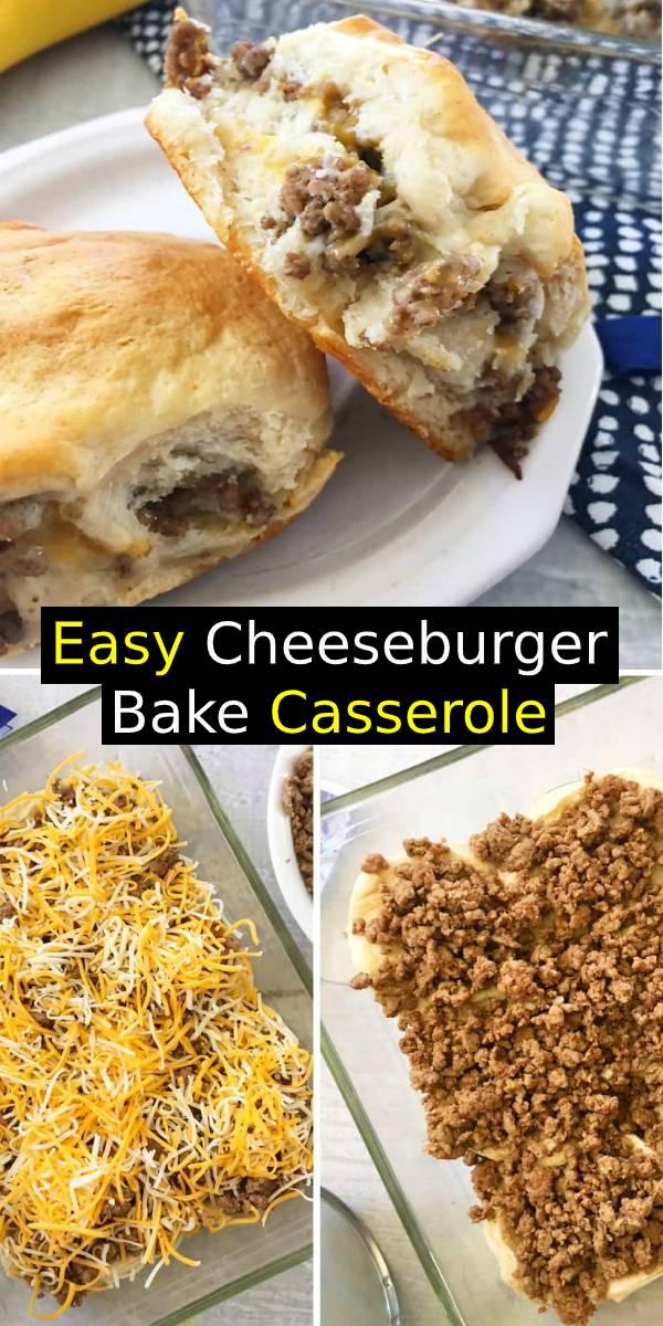 Easy Cheeseburger Bake Casserole Recipe | Easy Dinner Recipe | Easy Main Dish Recipe #cheeseburger #baked #casserole #maindish #dinnerrecipe #dinner