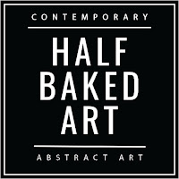 contemporary abstract resin art by Half Baked Art