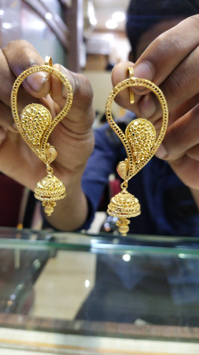 Latest Full Kan Jhumka Designs | Ear Cuffs Designs in Gold