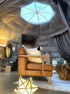 テント内から空が見えます