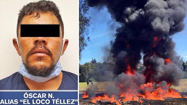 """Capturan en Puebla a """"El Loco Téllez"""" uno de los Huachicoleros más peligrosos del país"""