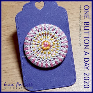 Day 231 : Cotton Candy - One Button a Day 2020 by Gina Barrett
