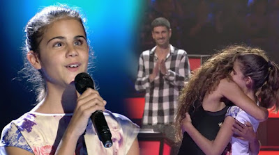 Laura invidente canta Qué Bonito |  Audiciones a ciegas La Voz Kids invidente