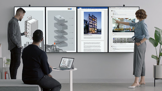 Microsoft Surface Hub 2 is coming with a great 50-inch touch display with rotation