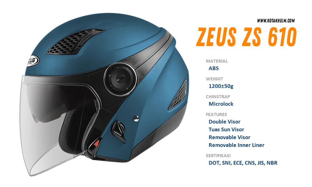 Zeus ZS 610 Doff Biru Navy