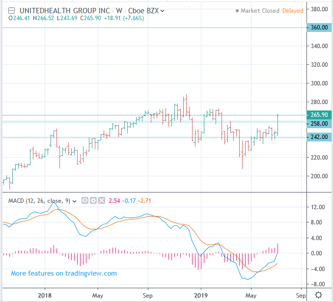NYSE UNH UnitedHealth Stock price forecast - go up to 360 dollars