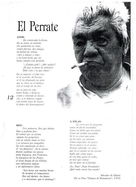 Perrate de Utrera en unos magníficos versos de Salvador Quinta