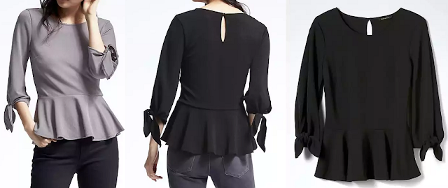 Banana Republic Tie-Sleeve Crepe Top $30 (reg $50)