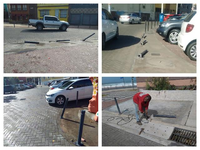 Prefeitura  continua substituindo defensas destruídas pelos vândalos