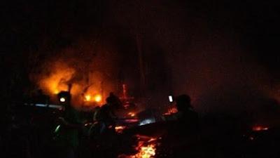 Waktu Tidur, Rumah Panggung Ludes Terbakar di Pattiro Bajo