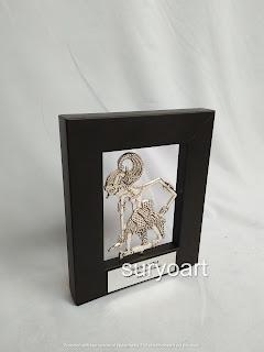 Souvenir Wayang Logam Bima Frame pigura minimalis