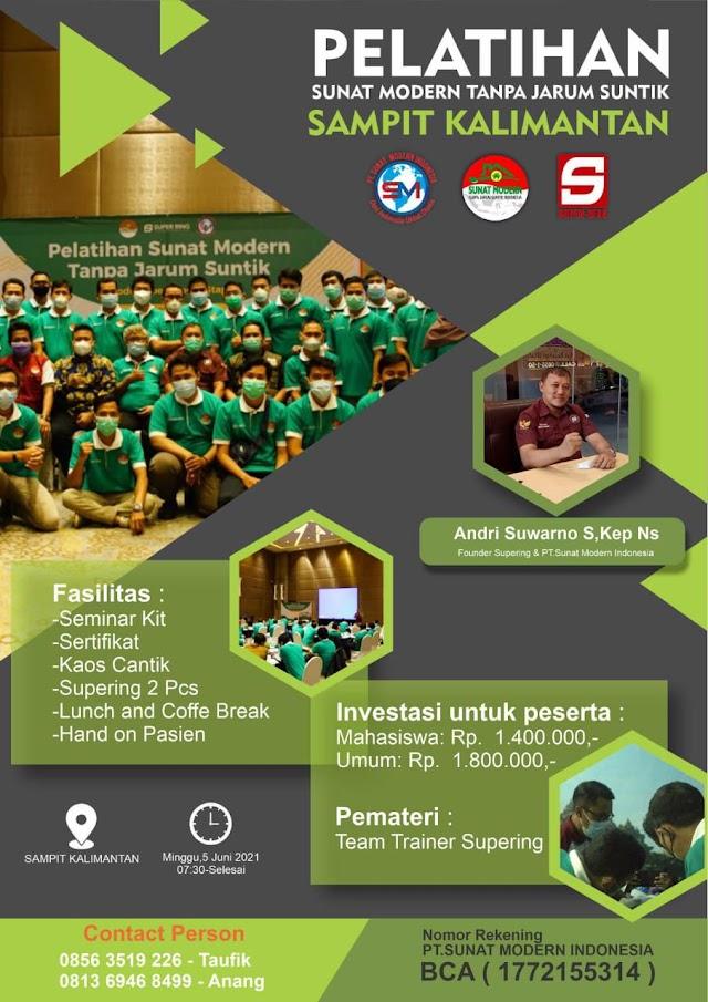 Pelatihan Sunat Modern Tanpa Jarum Suntik Lokasi Sampit-Kalimantan
