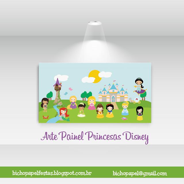 Arte Painel Princesas Disney