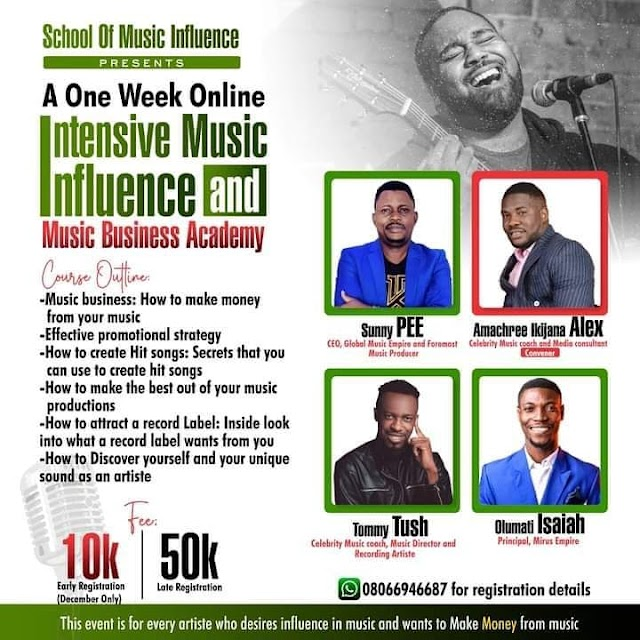 [SEMINAR] A One Week Intensive Music Influence And Music Business Academy