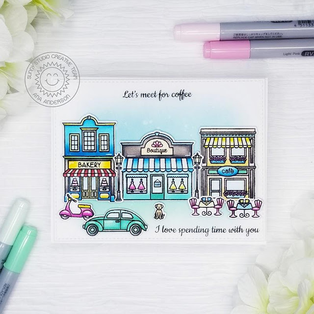 Sunny Studio Stamps: City Streets Friendship Card by Ana Anderson